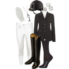 """Luv Inspired Dressage Outfit"" by luvinspiredjewels on Polyvore"