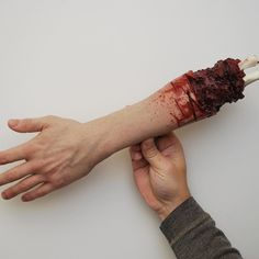 This gruesome arm was created using Dragon Skin FX Pro and Silc Pig Flesh Tone. #moldmaking