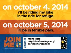 Ride for Refuge in support of HART Misery Loves Company, Vulnerability