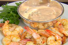 Roasted Shrimp with Thousand Island Dressing from FoodNetwork.com