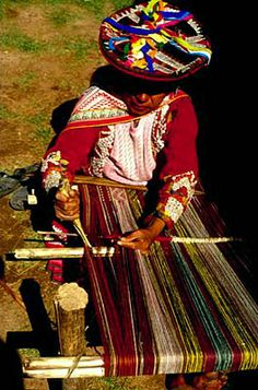 Weaver of Chinchero, Sacred Valley.  Photo: Mylene d'Auriol Stoessel.