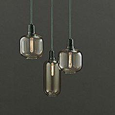 top3 by design - Normann Copenhagen - amp lamp large gold green