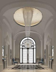IONS one the leading interior design companies in Dubai .provides home design, commercial retail and office designs Interior Design Dubai, Lobby Interior, Residential Interior Design, Interior Design Companies, Apartment Interior, French Apartment, Mansion Interior, Apartment Ideas, Classic Decor