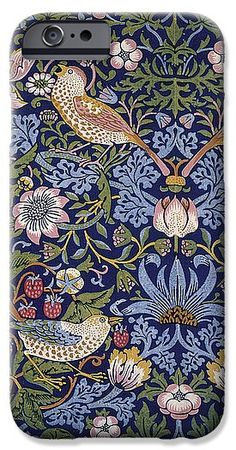 Strawberry IPhone 6s Case featuring the tapestry - textile Strawberry Thief by William Morris
