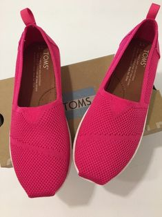 8b0b517297e Authentic Pink Toms Alpargata Mesh Slip-on Girls Size Youth 1 for sale  online