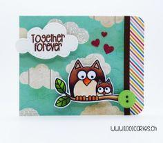 Card by Francine #heroarts #lilinkerdesigns #papersmooches #owl #crafts…