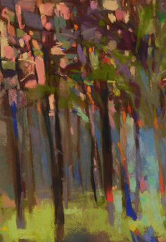 Forest Interior with Pinks | Casey Klahn Art