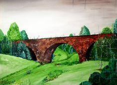 Edice : Třebovice v Čechách a okolí, starý železniční most, kresba a malba na papír A3, více na www.koblihateam.cz  www.e-vystava.eu