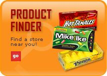 Find your favorite candy product at a store with brand names of: Peeps, Mike and Ike, Hot Tamales, Peanut Chews and Teenee Beanee.