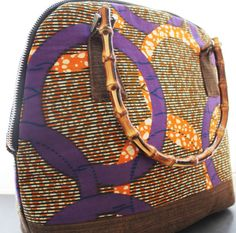 African Print purse with bamboo handle and by AkeseStyleLines, $79.99