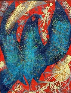 Jozsef Domjan artist (Hungarian). Colour woodcut