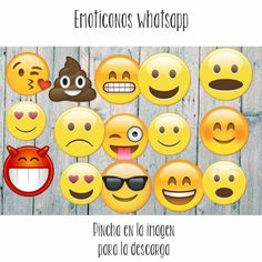 Emoticonos Whatsapp para imprimir gratis! #emoticonos #photocall