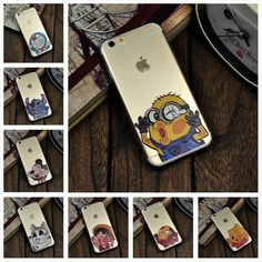 Cartoon phone case For Apple iPhone 6 case Transparent Doraemon Minions Iron Man Hit the glass Soft TPU Cell Phone cases covers Price: USD 1.99 | United States