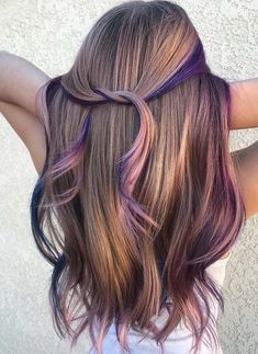 Long Wavy Ash-Brown Balayage - 20 Light Brown Hair Color Ideas for Your New Look - The Trending Hairstyle Cute Hair Colors, Hair Dye Colors, Cool Hair Color, Unique Hair Color, Beautiful Hair Color, Hair Color Highlights, Hair Color Balayage, Rainbow Hair Highlights, Ombre Hair