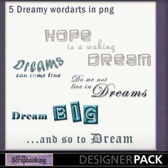 Dreamy Words #ArtForScrapbooking.com #MyMemories.com #digital #scrapbooking #AFS_sharon