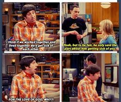 Sheldon is great with relationship advice Living Together, Working Together, Bigbang, Howard And Bernadette, Penny And Sheldon, Big Bang Theory Penny, Funny Things, Funny Stuff, Lame Jokes