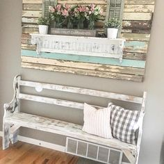 Farmhouse Entry with Bench