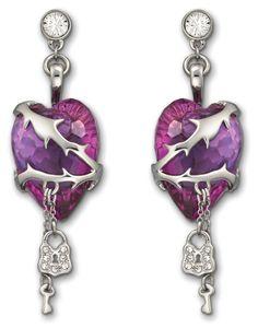 Swarovski Snow White earrings