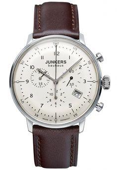 Junkers Bauhaus Chronograph, 40mm - MilitaryTime, Junkers, Zeppelin, Torgoen, Aeromatic, Tauchmeister, Gavox, Techne, Retrowerk klokker