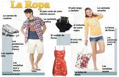 25 Best Vocabulario La Ropa Images Teaching Spanish Spanish