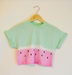 Watermelon tye dye shirt diy. Perfect for summer!