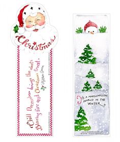 Christmas bookmark Printable by Susan Branch