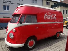 Original Sales Flap Split - originally a Coca Cola delivery van too  Great to see it back to how it was 50 years ago! by carbsandchrome
