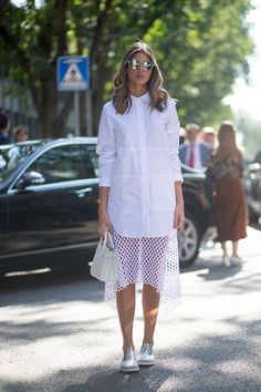 Hot white-on-white summer street style to inspire you: