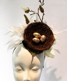 A personal favorite from my Etsy shop https://www.etsy.com/listing/528046241/white-fascinator-derby-headband-diner-en
