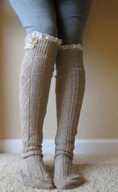 boot socks, cute!