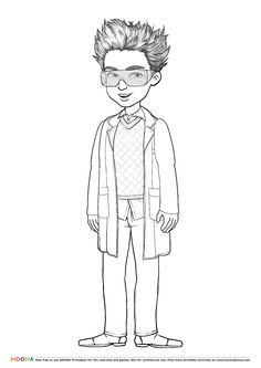 #Free #Printable Coloring Pages for toddlers and preschoolers: #scientist. Click through to customize and download free color pages for kids as a FREE PDF https://www.moonagroup.com/tag/90.html #Fruits, #Berries, #Christmas and #Heroes