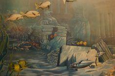 Australian wall mural artist Geoff Williams