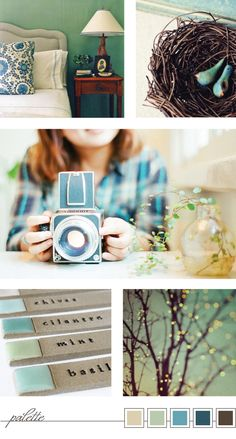 Teal, blue and green color palette | Keeping It Indie
