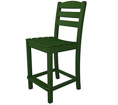 POLYWOOD La Casa Cafe Armless Counter Chair