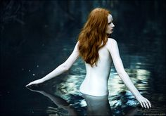 Porcelain by Zhang Jingna #photography #redhead #siren #nymph