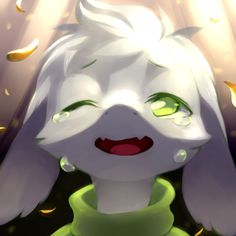 """I always was a cry baby wasn't I…. "" by: SparkTail162 http://sparktail162.tumblr.com #Asriel #Undertale"