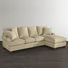 Right Chaise Sectional  This is the combination we were discussing, and again it has all of the available style options to choose from.