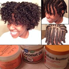 Dry braid out with twists at the ends! #naturalhair #braidout #twistout #Padgram
