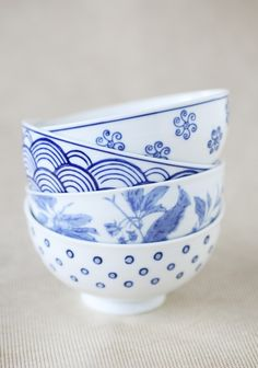 Blue Belle Ceramic Bowl Set | Modern Vintage Home