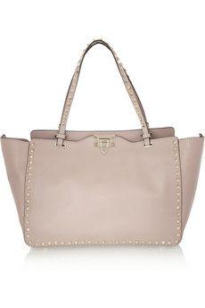 Valentino - The Rockstud Medium Leather Trapeze Bag - Blush - one size Valentino Rockstud, Valentino Bags, Coach Purses, Coach Bags, Leather Purses, Leather Handbags, Pink Handbags, Coach Handbags, Tory Burch