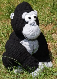 crochet gorilla toy