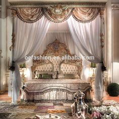 Antique Luxury Rococo European style wood bed room furniture bedroom set carved bed designs, View wooden carved bed designs, OE-FASHION Product Details from Foshan Oe-Fashion Furniture Co., Ltd. on Alibaba.com