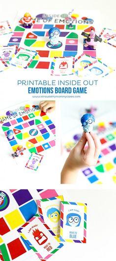 Printable Inside Out Emotions Board Game // Juego imprimible sobre las emociones, basado en Del Revés