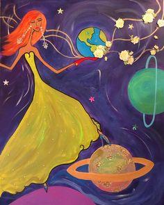 Painted Denim Jacket, Cosmos, Disney Characters, Fictional Characters, Disney Princess, Artist, Prints, Painting, Instagram