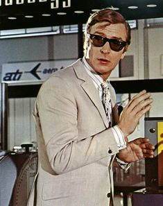 The Italian Job, 1969: Caine's effortless tailoring in the car chase gangster classic
