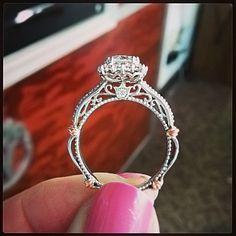 Side view of a Verragio engagement ring ♥ #Verragio exclusively at #CapriJewelersArizona ~ www.caprijewelersaz.com ♥