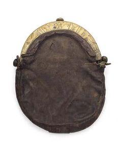 17th/18th century brass mounted leather sporran
