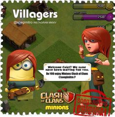 Clash of Clans  Villagers Minions