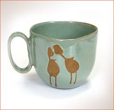 """These mugs are made in a very special, organic form. They actually seem to """"nest"""" in your hands. Can be used for coffee and are especially appropriate . Organic Form, Kissing, Nest, Cups, Surface, Hands, Holidays, Ceramics, Glasses"""