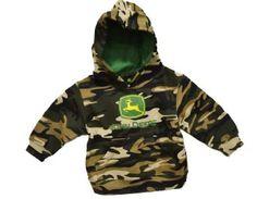 Amazon.com: John Deere Toddler Camo Hooded Sweatshirt Green (Size 7): Clothing